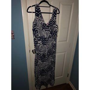 Lilly Pulitzer Cabana Boy Sloane Maxi Dress sz L